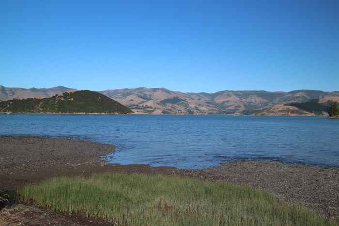 Akaroa Halbinsel von French Farm Bay